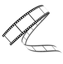 Vecteur de film roulé