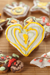 Heart shape gingerbread