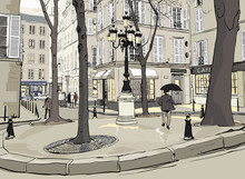 Furstemberg square in paris