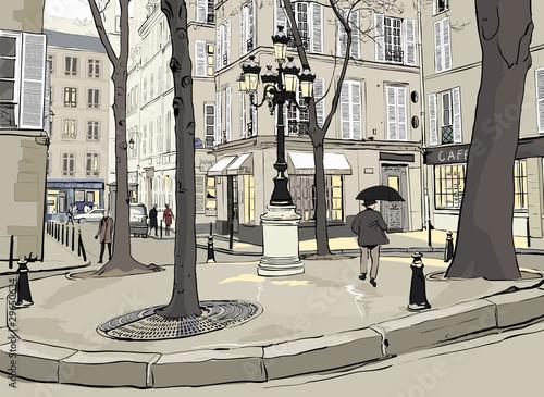 Fototapeta Furstemberg square in paris