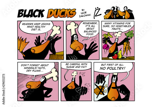Staande foto Comics Black Ducks Comic Strip episode 66