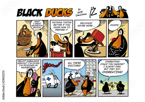 Keuken foto achterwand Comics Black Ducks Comic Strip episode 65