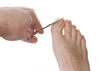 Cutting toe nails