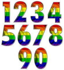 Gay rainbow flag numbers