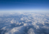 High altitude view of clouds poster