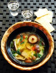 Shitake mushroom soup