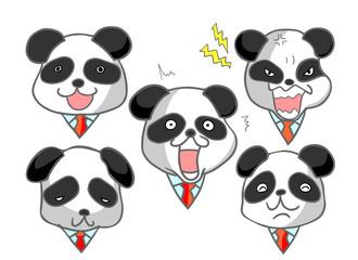 パンダ 男性 喜ぶ悲しむ怒る驚く泣く笑う