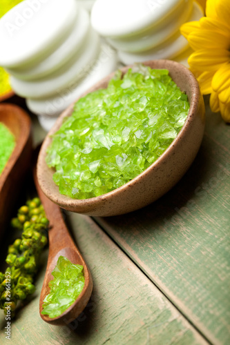 Green bath salt for Spa