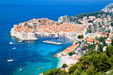 Fototapety A panoramic view of an old city of Dubrovnik