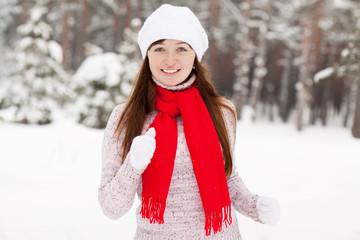 woman runs at winter park