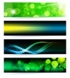 Vector set of abstract banners. Green Design.