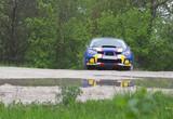 rally car on dirt