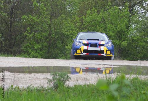 rally car on dirt - 29662421