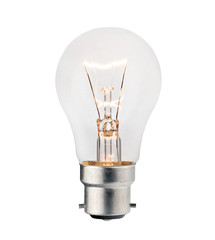 Lightbulb with Bayonet fitting Isolated on White