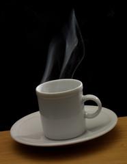 Caliente cafe.