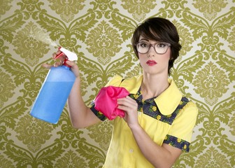 housewife nerd retro cleaning chores equipment