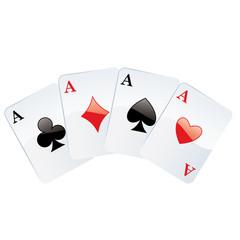 Jeux de cartes. Carré d'as. poker gagnant