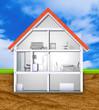 Haus Querschnitt Einfamilienhaus