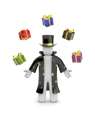Wizard with gifts