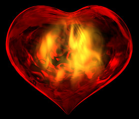 A passionalte burning heart