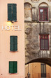 Hotel on central town square, Mantova, Northern Italy