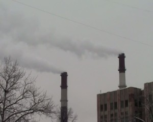smoke from the chimney