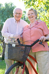 Active seniors couple