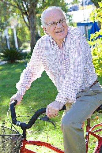 Old man on a bike
