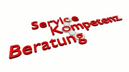 Service - Kompetenz - Beratung (Video, Rot)