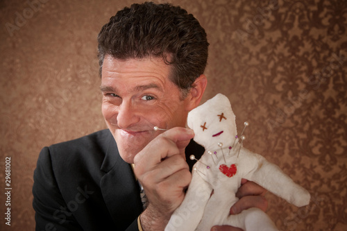 Man with a Voodoo doll