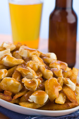 Poutine with beer
