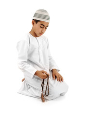 Islamic pray full serie. Muslim kid. Tutorial of 15 photos.