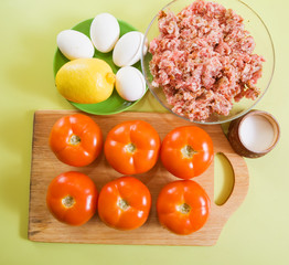 ingredient for stuffed tomato