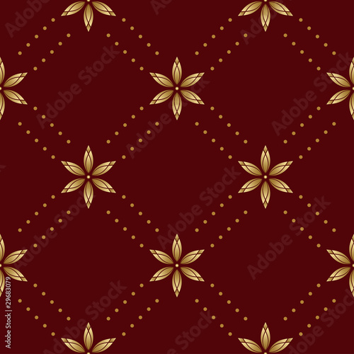 poster of vector brown seamless texture with rhombuses