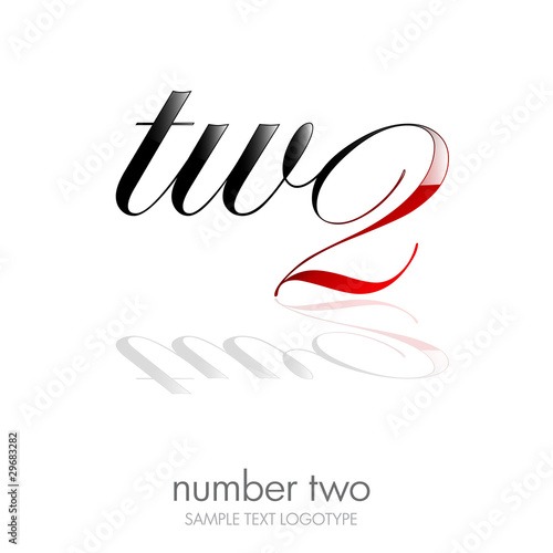 Logo two, number and letter # vector