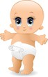 Neonato Primi Passi Cartoon-Baby Walking-Vector