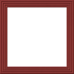 Modern square wood frame isolated on white background