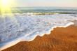 Sea landscape on a sunrise