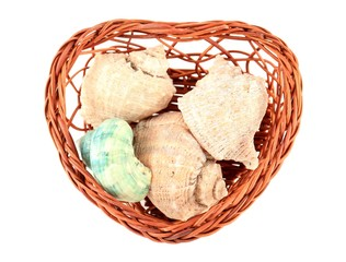 Decorative heart shaped basket