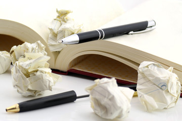 pens and book