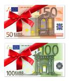 Geldscheine mit roter Schleife