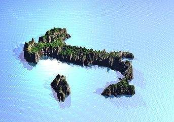 Italia 3d cartina fisica orizzontale