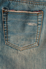back jean texture.