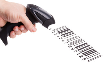 Bar code reader (scanner) isolated on white background