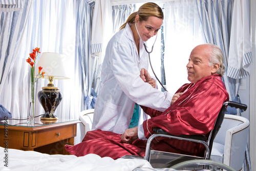 Cheerful nurse with a patient