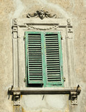 beautifully decorated antique window, Tuscany