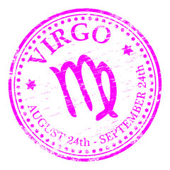 """VIRGO"" Star sign rubber stamp illustration"