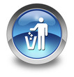 """Glossy Pictogram """"Litter Container"""""""