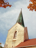 Tower of lutheran church poster