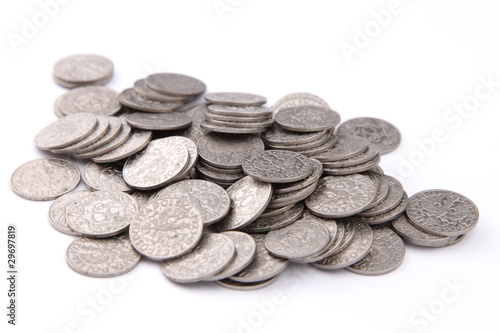 pile of old polish coins